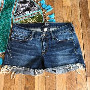 Lucky Brand  Cut Off Distressed Festival Shorts